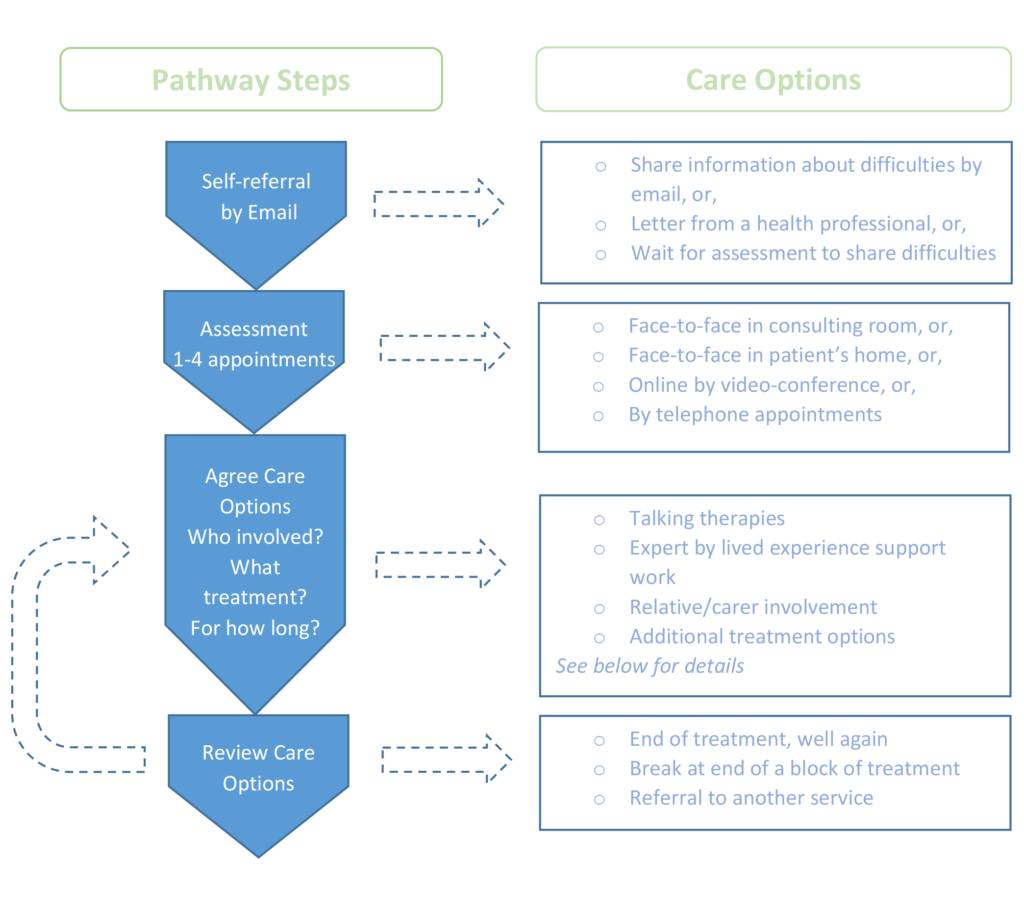 Diagram of referral pathway